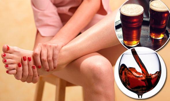 relacion entre alcohol y gota