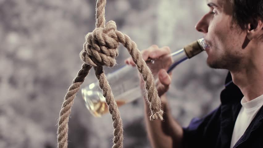 Suicidio en alcoholismo